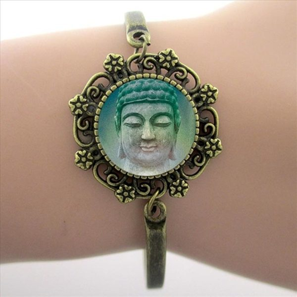 Armband Wheel of Dharma groen