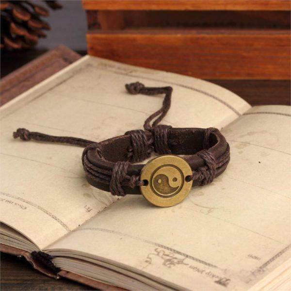 Tai Chi Armband Yin Yang Bronze