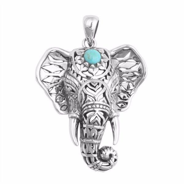 Ketting Elephant Turquoise