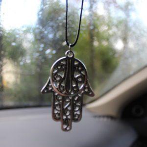 Hamsa hanger voor de achteruitkijkspiegel van je auto.