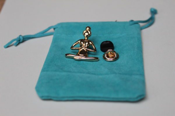 goudkleurige Buddha Broche - Pin