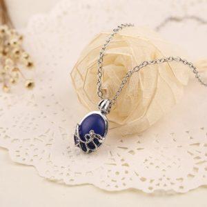 Verzilverde ketting Blue