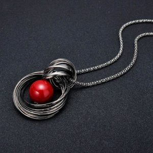 Ketting Red Pearl