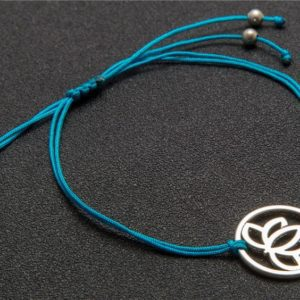 Koordarmband Lotus Blauw